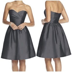 Alfred Sung Strapless Cocktail Dress Ebony Sz 00